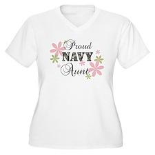 Navy Aunt [fl camo] T-Shirt