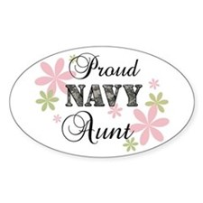 Navy Aunt [fl camo] Stickers