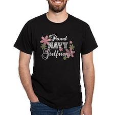 Navy Girlfriend [fl camo] T-Shirt