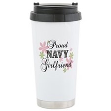 Navy Girlfriend [fl camo] Travel Mug