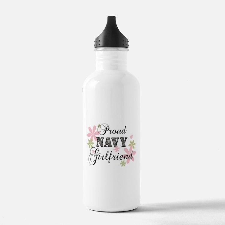 Navy Girlfriend [fl camo] Water Bottle