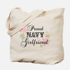 Navy Girlfriend [fl camo] Tote Bag