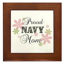 Navy Mom [fl camo] Framed Tile