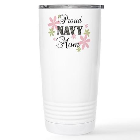 Navy Mom [fl camo] Stainless Steel Travel Mug