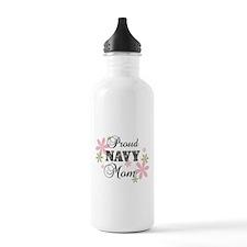 Navy Mom [fl camo] Water Bottle