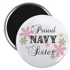 Navy Sister [fl camo] Magnet