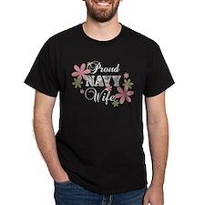 Navy Wife [fl camo] T-Shirt