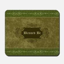Blessed Be Vintage (Green) Mousepad