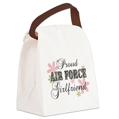 Air Force Girlfriend [fl camo] Canvas Lunch Bag