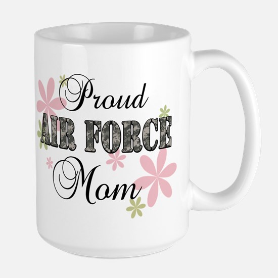 Air Force Mom [fl camo] Large Mug