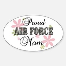 Air Force Mom [fl camo] Sticker (Oval)
