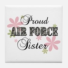 Air Force Sister [fl camo] Tile Coaster