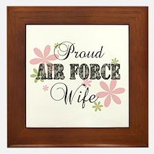 Air Force Wife [fl camo] Framed Tile