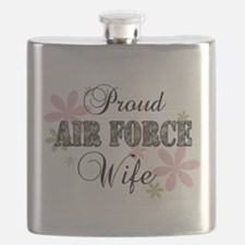 Air Force Wife [fl camo] Flask