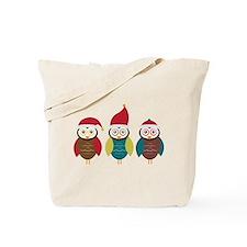 Christmas Owls Tote Bag