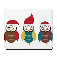 Christmas Owls Mousepad
