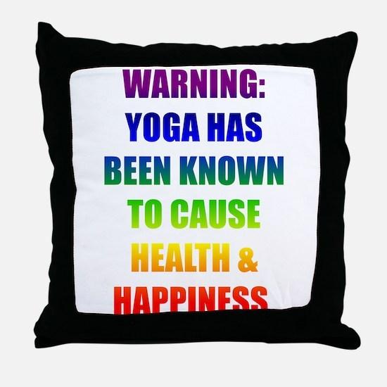 Rainbow Warning Throw Pillow