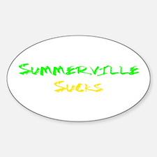 Summerville Sucks Oval Decal