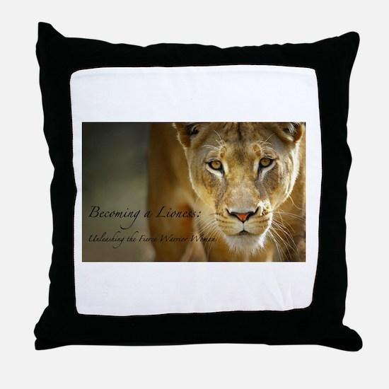 Cute Lioness Throw Pillow
