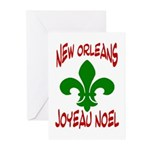 New Orleans Christmas French Cards (Package