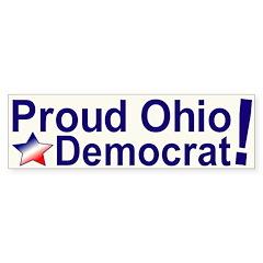 Proud Ohio Democrat Bumper Sticker