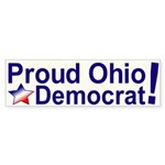 Proud Ohio Democrat Bumper Sticker