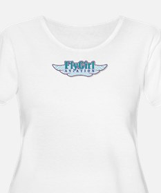 Fly Girl Aviation Plus Size T-Shirt