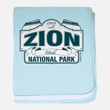 Zion National Park Blue Sign baby blanket
