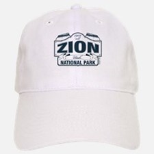 Zion National Park Blue Sign Baseball Baseball Cap