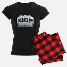Zion National Park Blue Sign Pajamas