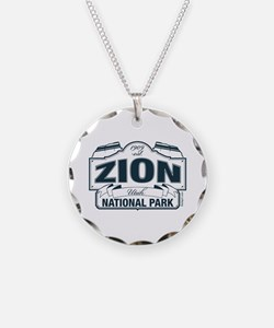 Zion National Park Blue Sign Necklace