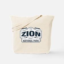 Zion National Park Blue Sign Tote Bag