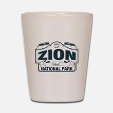 Zion National Park Blue Sign Shot Glass