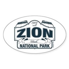 Zion National Park Blue Sign Decal