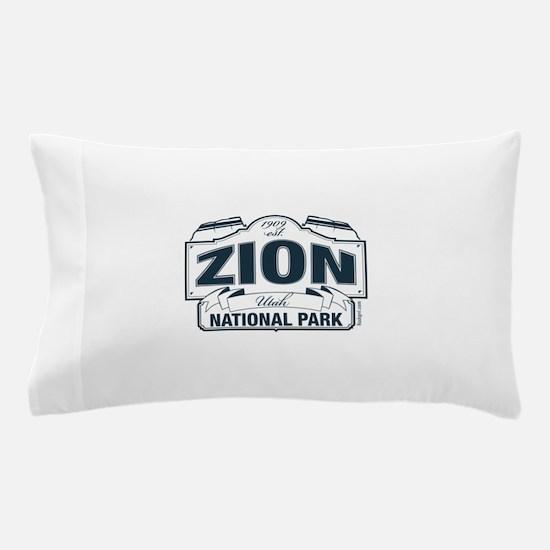 Zion National Park Blue Sign Pillow Case