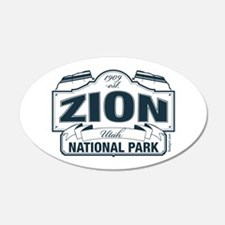 Zion National Park Blue Sign Wall Decal