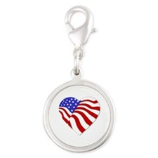 Heart of America Silver Round Charm