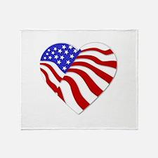 Heart of America Throw Blanket