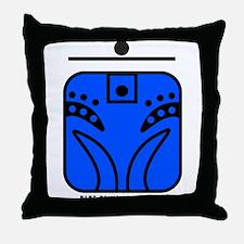 BLUE Rhythmic MONKEY Throw Pillow