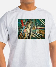 ARTIST PAINT BRUSH PILE. T-Shirt