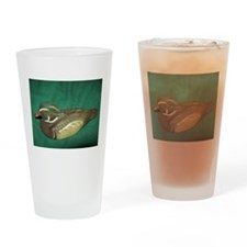 PHOTO OF A WOODEN DUCK. Drinking Glass