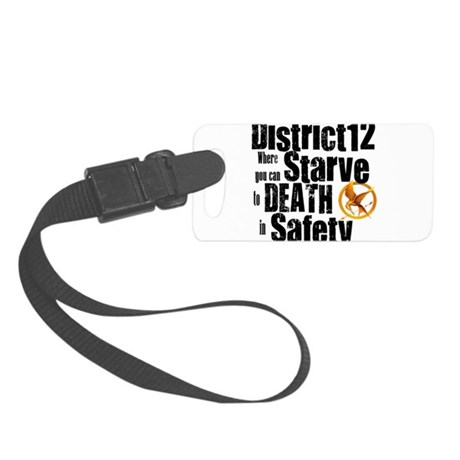 district 12 copy.png Small Luggage Tag