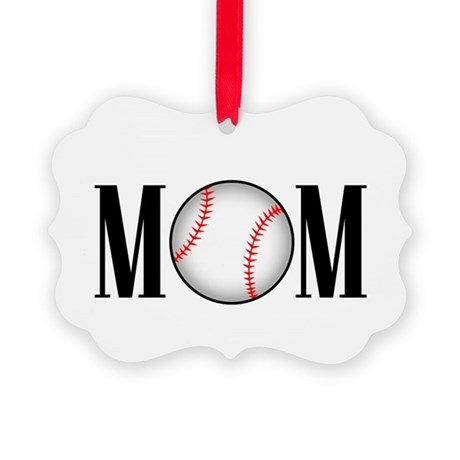 baseball mom copy.png Picture Ornament
