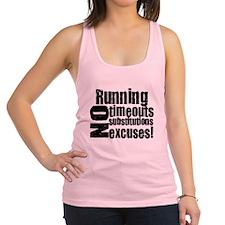 Running no excuses.png Racerback Tank Top