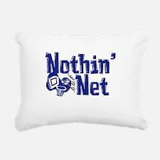 nothin but net blue.png Rectangular Canvas Pillow
