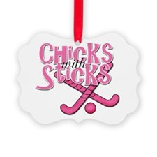 Chicks with sticks Field Hockey.png Ornament