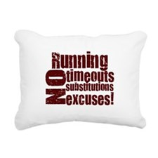 running burgundy.png Rectangular Canvas Pillow