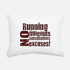 running burgundy.png Rectangular Canvas Pillow