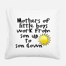 son up shirt 3 copy.jpg Square Canvas Pillow