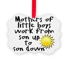 son up shirt 3 copy.jpg Picture Ornament
